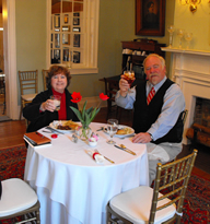 The Colonel shares lunch with Travel Writer Becky Linhardt
