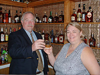 Colonel & Margaret Sue toast at the Chapeze House Bourbon Bar